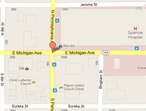 Lansing Bicycle Accident Location