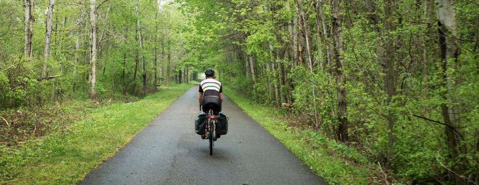 bike ride in Michigan