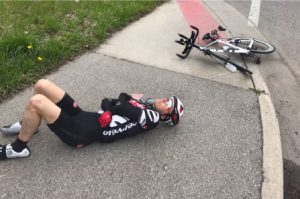 Jon Ornee in bike crash