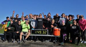 Jon Ornee and team set bicycle and running record