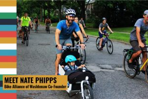 Nate Phipps on cargo bike