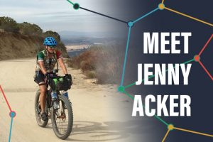 Jenny Acker, GPS artist, Michigan bicyclist