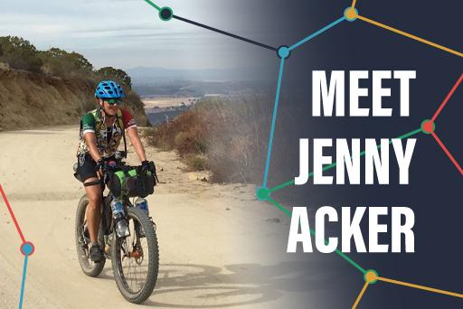 Jenny Acker, GPS artist, Michigan bicyclist