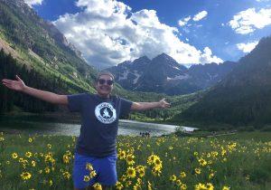 Attorney Lauren Kissel in mountains
