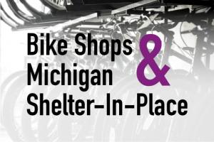 bikes in rack in background
