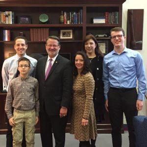 Ty Schmidt with Senator Gary Peters