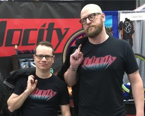 Jeff and Rob at Velocity booth