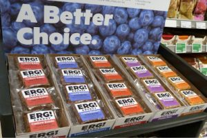 ERG Energy Bars on display at grocery store