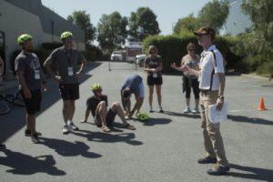 Ben Rollenhagen Teaching Bicycle Education Session