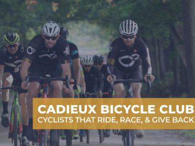 Cadieux Bicycle Club biking on dirt road
