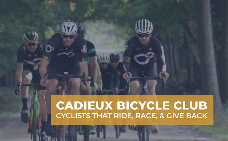 Cadieux Bicycle Club biking on dirt road